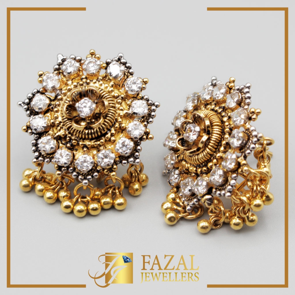 find orra for designs chandelier latest earrings a women phalak gold earring jewellery